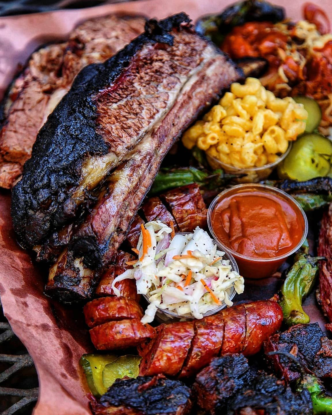Bringing The Fiiyyyaaaa To The Mile High City Check Out This Gargantuan Barbecue Table Breaker From Ajspitb Beef Ribs Homemade Pastrami Smoked Beef Ribs