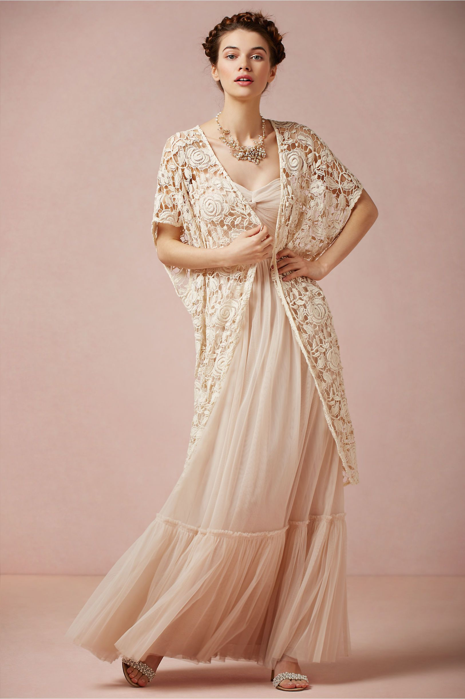 Rose Garden Lace Cape at BHLDN Classy, yet bohemian. Lovely ...