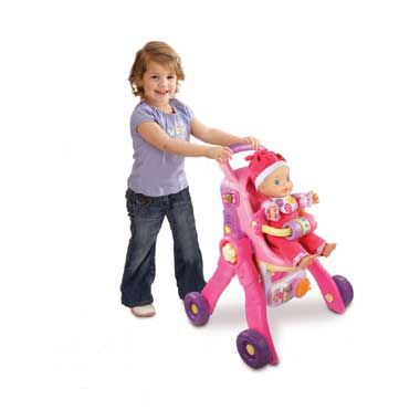 VTech Little Love- 3 in 1 poppenwagen  De interactieve 3 in 1 Little Love poppenwagen van VTech is de grootste wens van alle poppenmoeders! De poppenwagen kan veranderd worden in een bedje of een kinderstoeltje. Laat jouw pop luisteren naar de liedjes en vrolijke zinnetjes!  EUR 39.99  Meer informatie