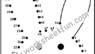 Dot to Dot - Bunny - Rabbit - Numbers 1-50 - One Worksheet ...