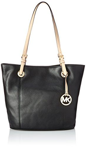 1cc1a455d0c2 Women's Top-Handle Handbags - Michael Kors Womens Jet Set Leather Lined Tote  Handbag Black Large -- Learn more by visiting the image link.