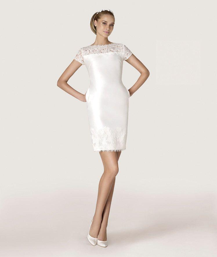Modelos de vestido de novia civil 2015