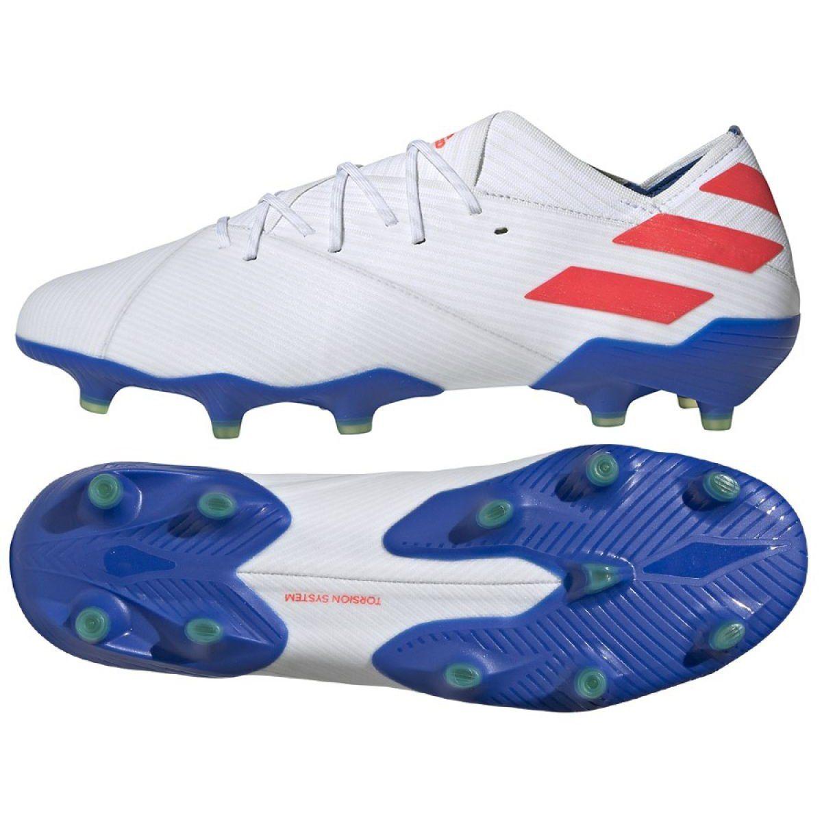 Football Boots Adidas Nemeziz Messi 19 1 Fg M F34402 White White Football Boots Adidas Football Soccer Cleats