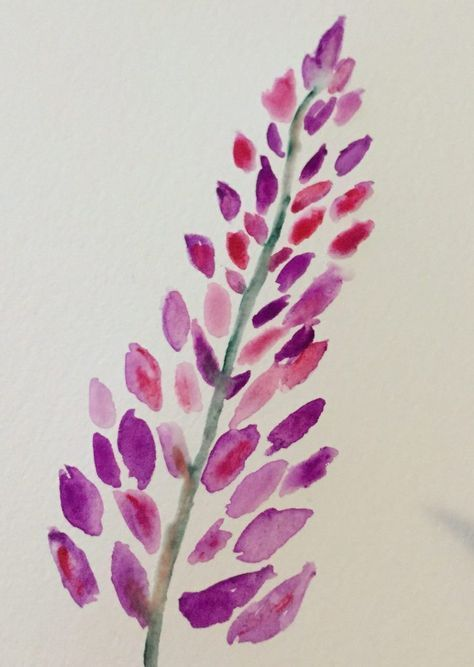 Watercolors For Beginners Lupine Flowers With Images