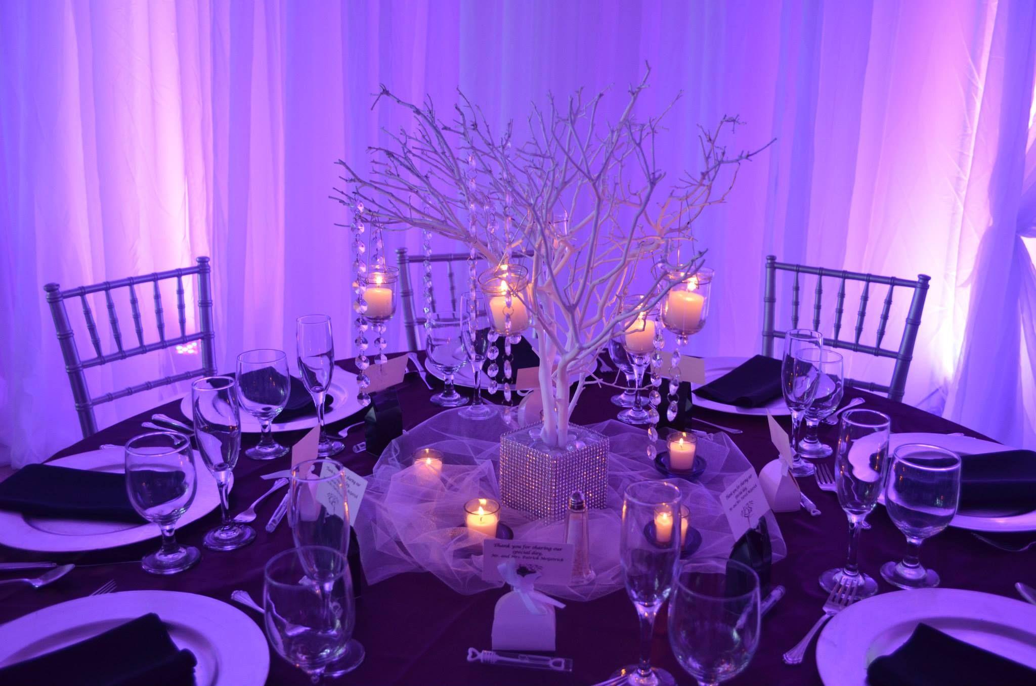 Beautiful wedding table set-up