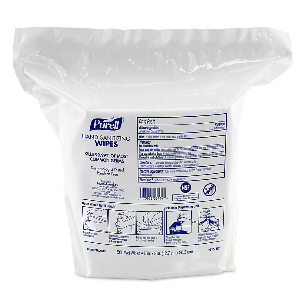 Purell Hand Sanitizing Wipes Fresh Scent Carton Of 3 000 Item