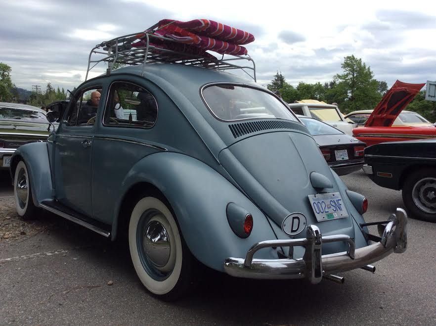 At the Hat's off Day street festival on East Hastings in Burnaby BC Canada.June 3rd 2017. 1958 VW Beetle, not restored!