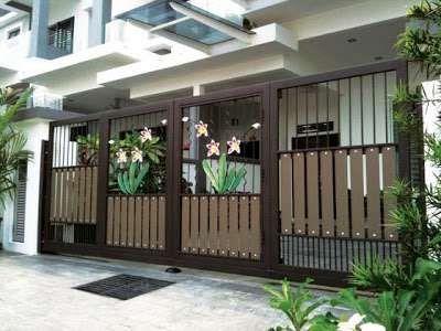 Contoh Model Desain Pagar Rumah Bernuansa Klasik ~ Foto Gambar Wallpaper |  Rumah Minimalis, Rumah, Minimalis