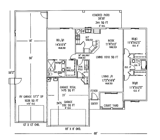 Rv Garage Floor Plans Google Search Garage Floor Plans Barndominium Floor Plans Garage House Plans