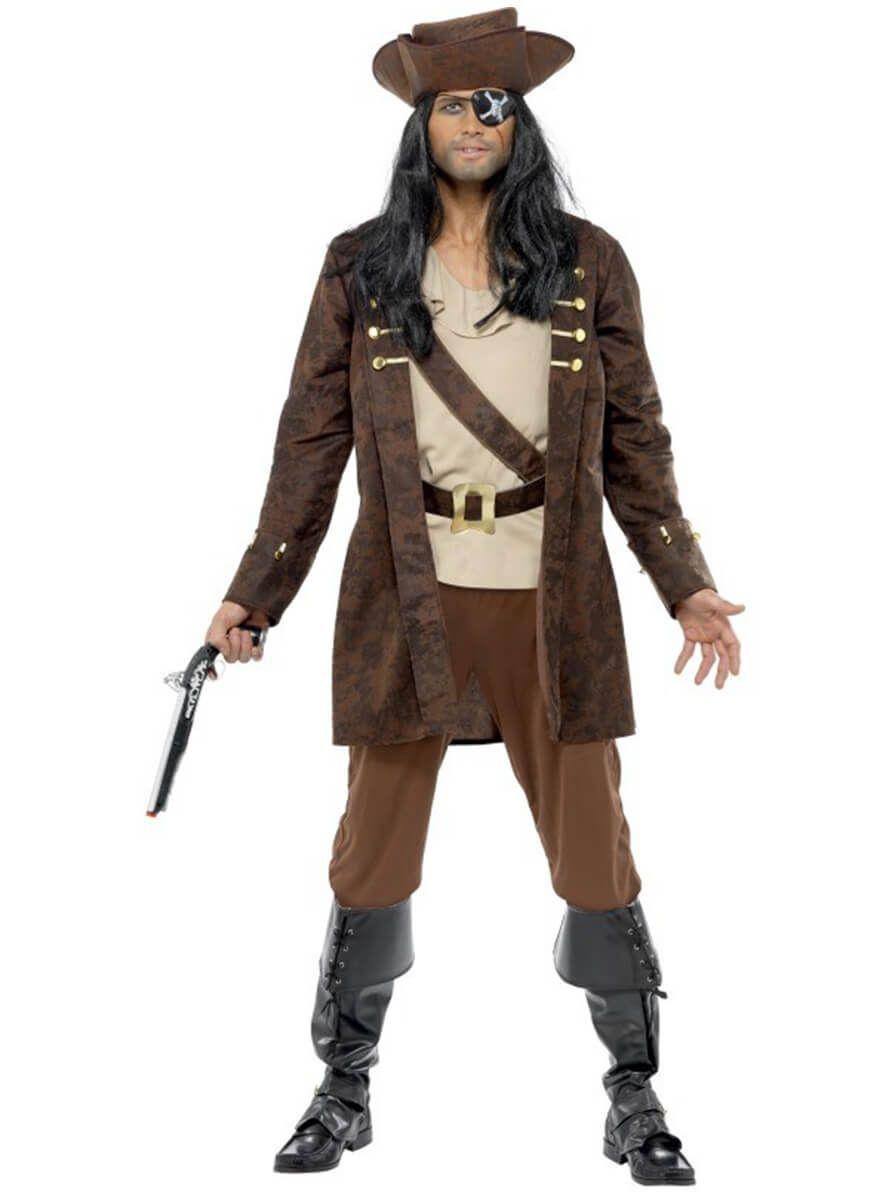 Traje de pirata bucanero para hombre  e30124dcd1a