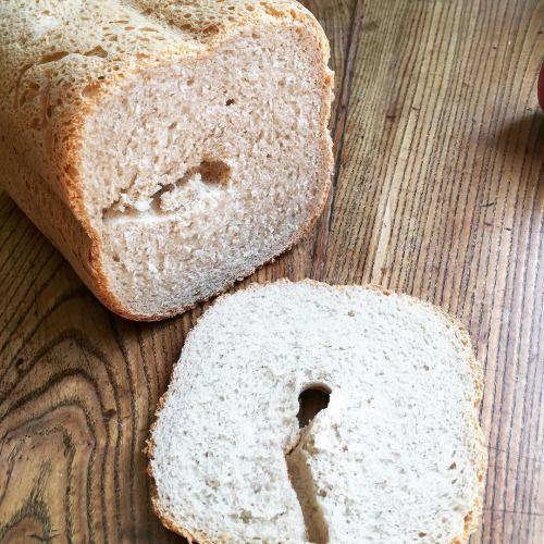 cuisinedemememoniq:  À la machine à pain pain semi-complet aux...