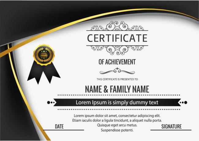 Certificado de inglês Preto ar, Modelo De Certificado, Certificado