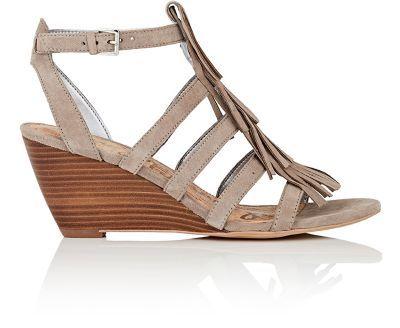 SAM EDELMAN Sandra Suede Wedge Sandals. #samedelman #shoes #pumps