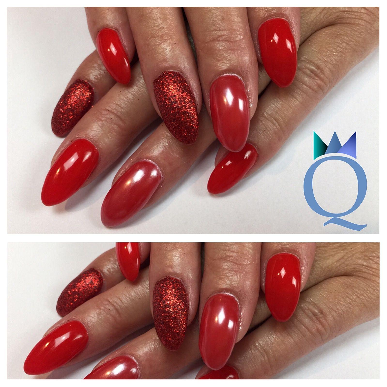 almondnails gelnails nails red glitter white chrome mandelform geln gel n gel rot. Black Bedroom Furniture Sets. Home Design Ideas