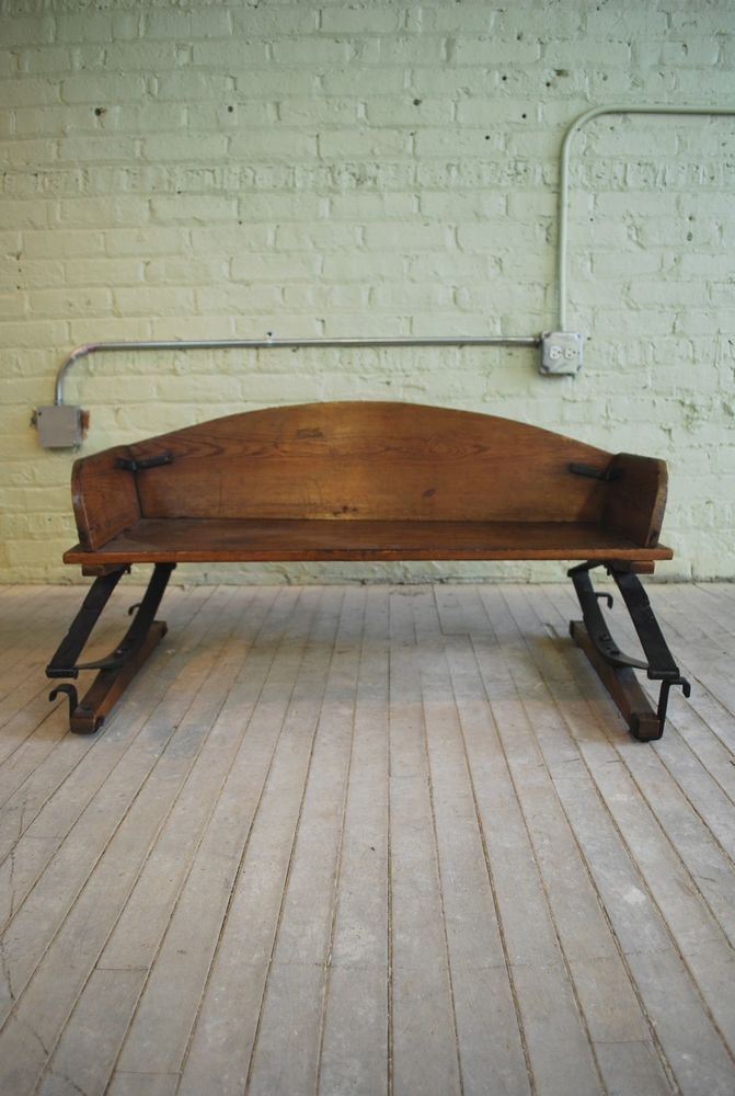 Pleasing Antique 19Th Century Wood Metal Wagon Seat Bench Primitive Inzonedesignstudio Interior Chair Design Inzonedesignstudiocom