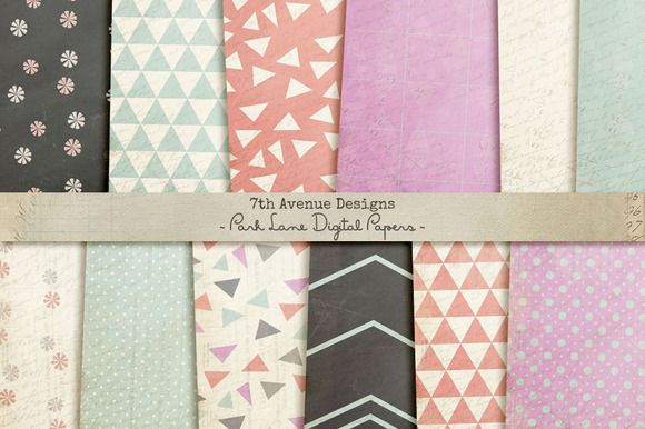 Check out Park Lane Digital Papers by 7th Avenue Designs on Creative Market