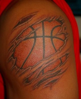 Soccer Ball Tattoos Basketball Tattoos With Wings Basketball ...