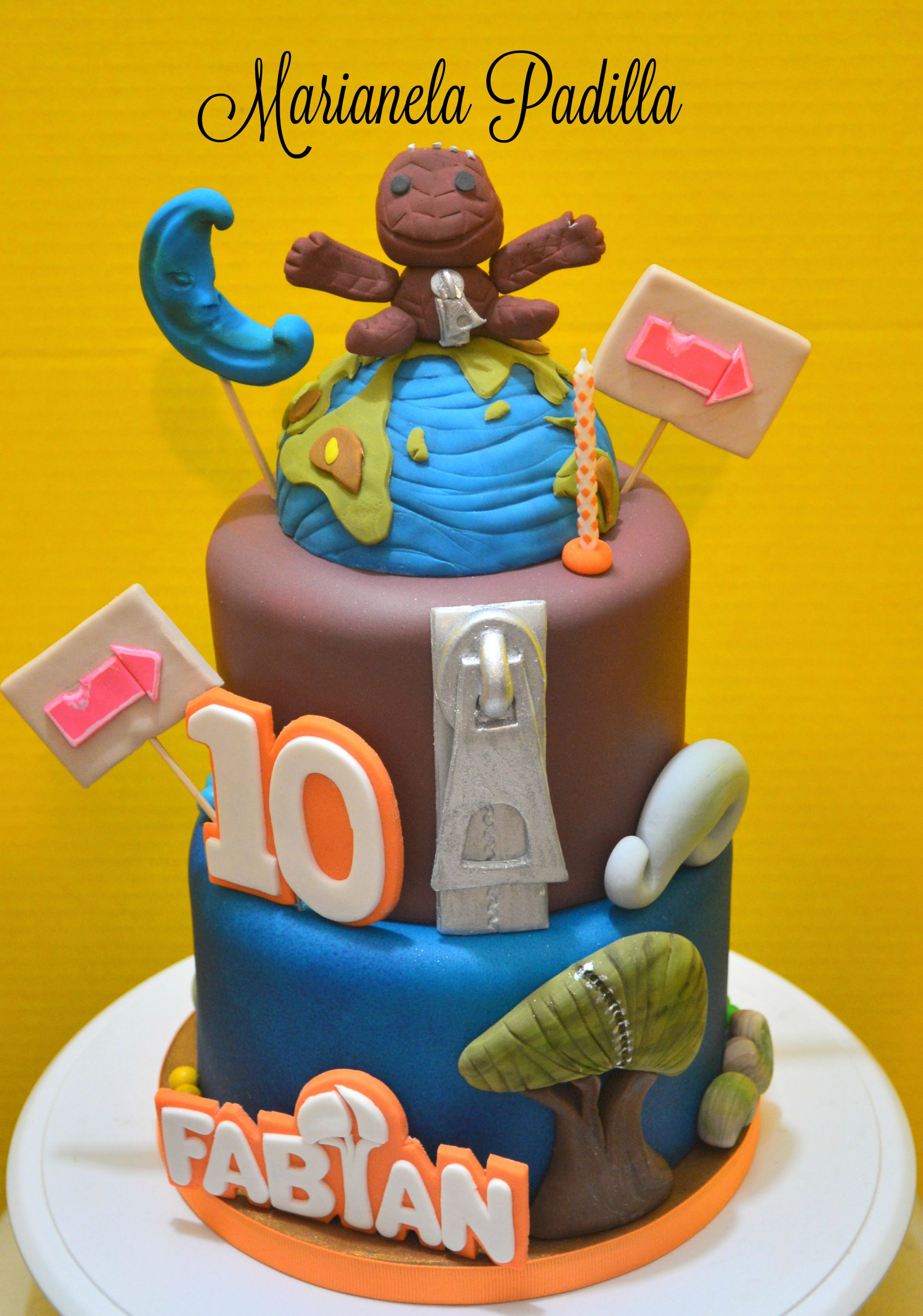 Prime Little Big Planet Themed Cake Planet Birthday Planet Party Birthday Cards Printable Riciscafe Filternl