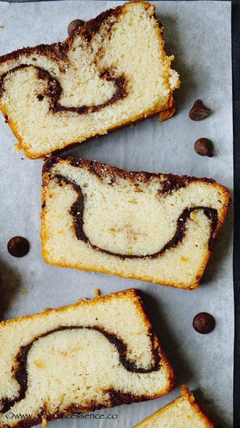 Egg Free Marble Cake Aromatic Essence Eggless Marble Cake Marble Cake Eggless Baking