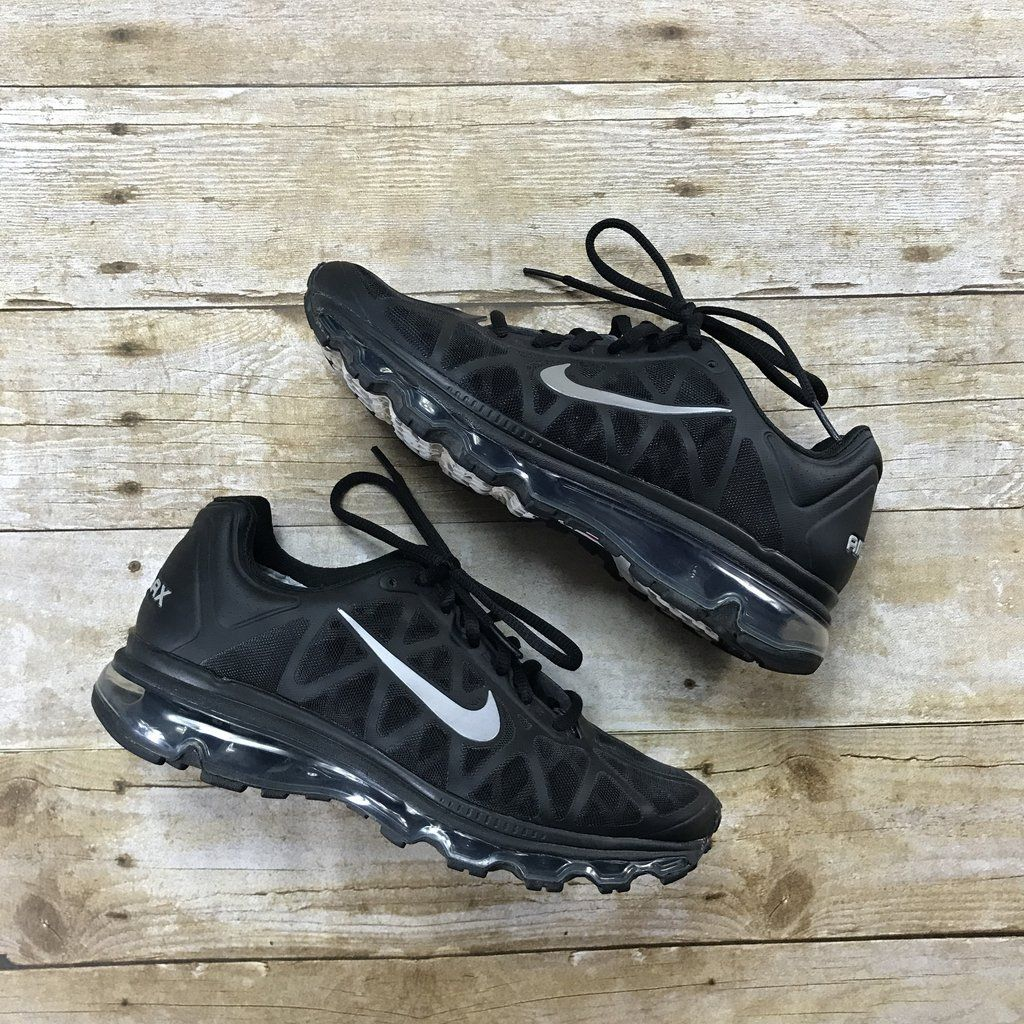 official photos 9e816 66659 ... promo code for 2011 nike air max black silver reflective 3m running  shoes womens us size