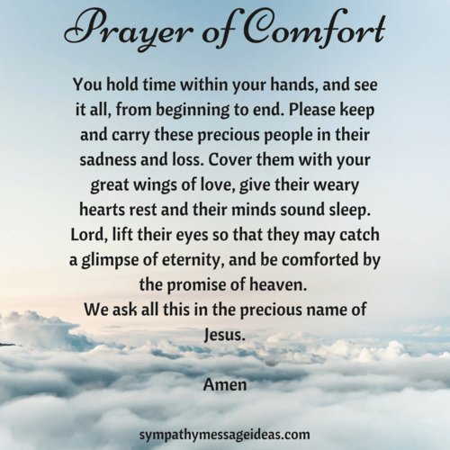 Sympathy Prayers: 23 Christian Ways to Pray for a Loss - Sympathy Card Messages
