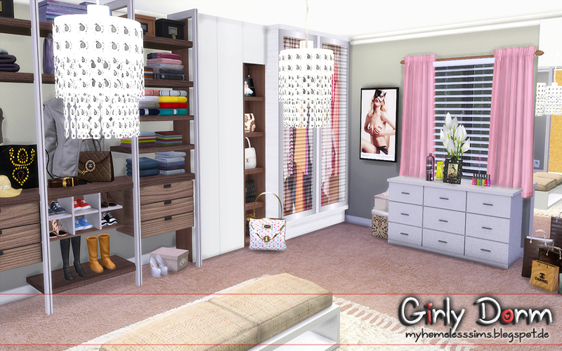 The Sims 4 Request Girly Dorm Homeless Sims Sims
