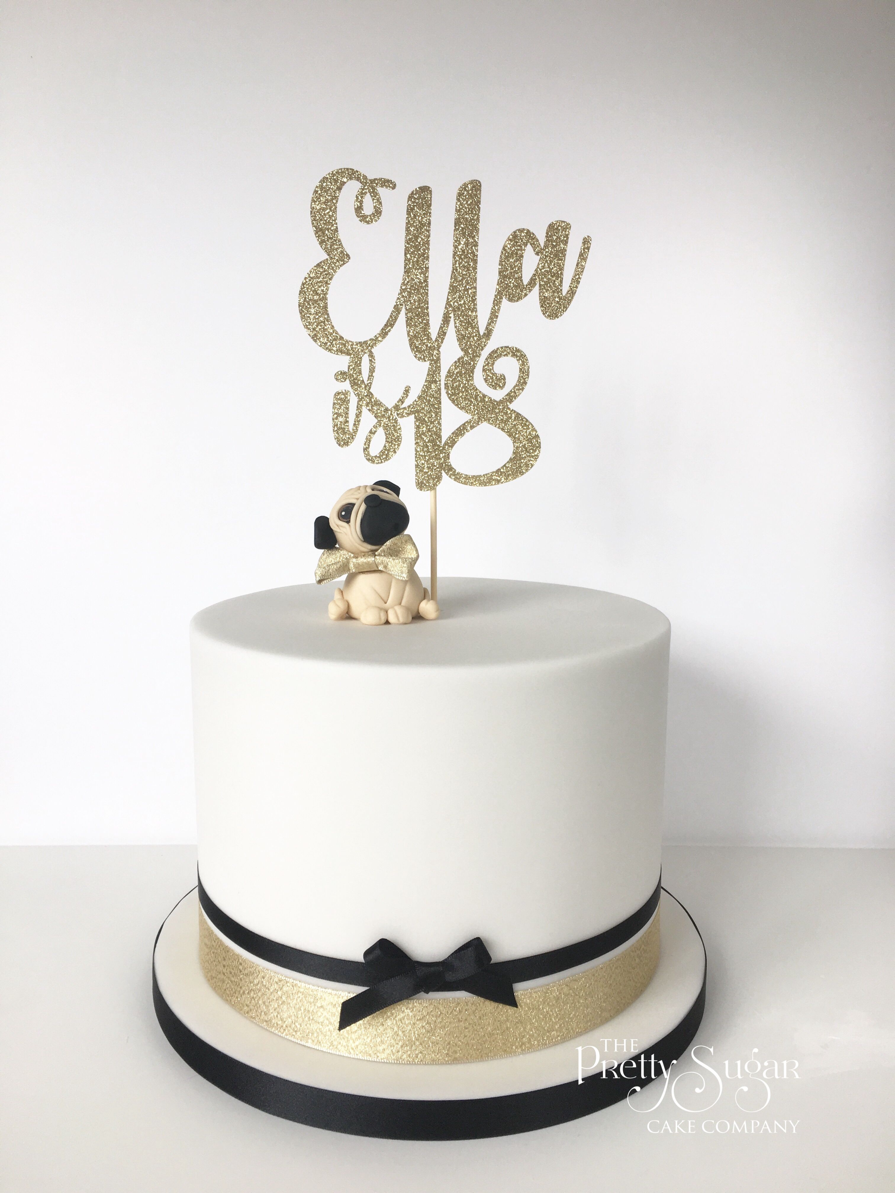 Pleasing Pug 18Th Birthday Cake Modern Birthday Cakes Pug Birthday Cake Funny Birthday Cards Online Bapapcheapnameinfo