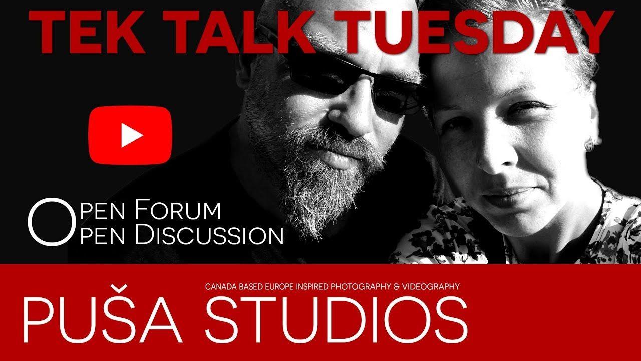 How to do YouTube? Tek Talk Tuesday on Puša Studios! We