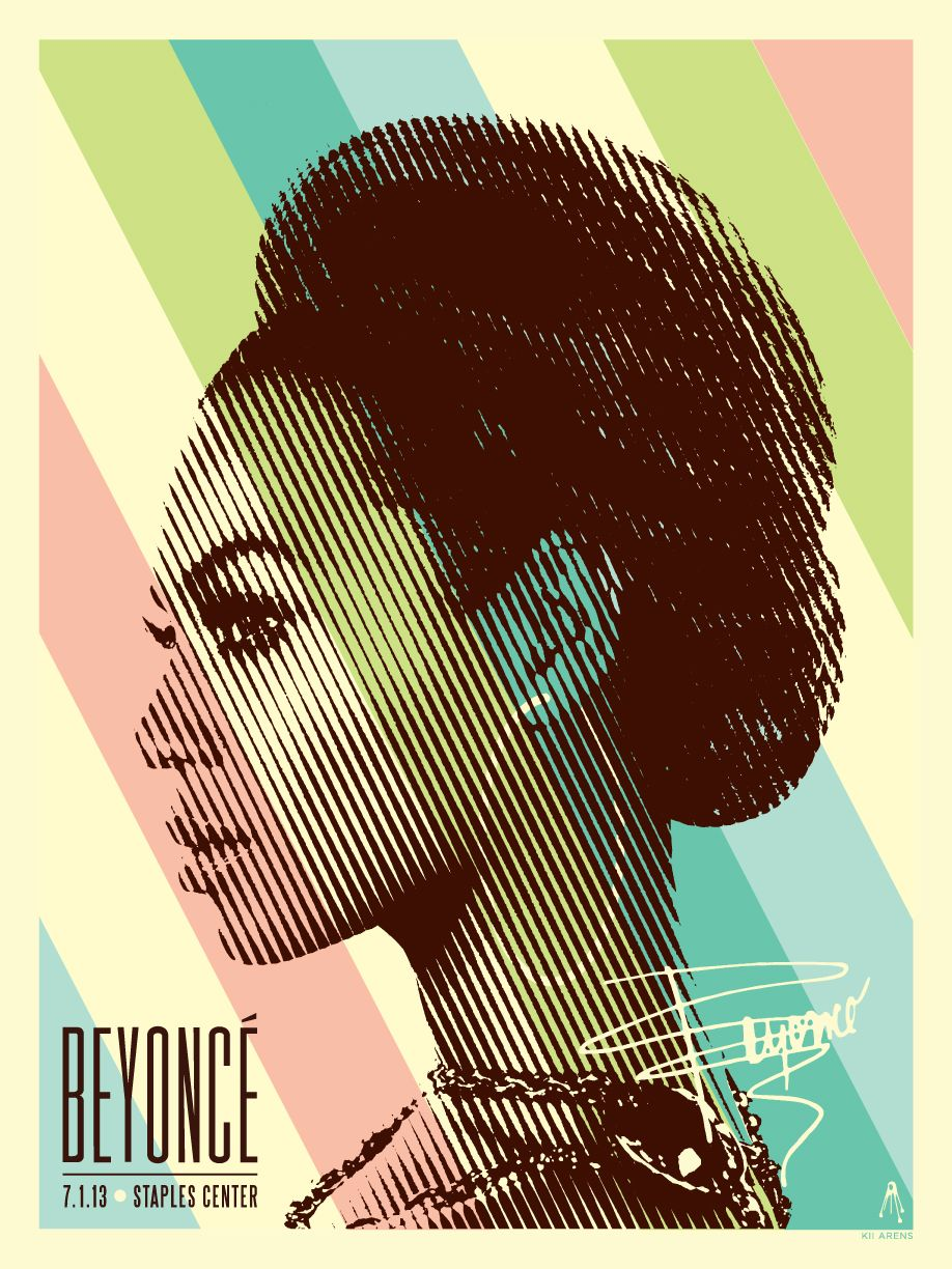 Poster design staples - Beyonce At Staples Center Posters By Kii Arens