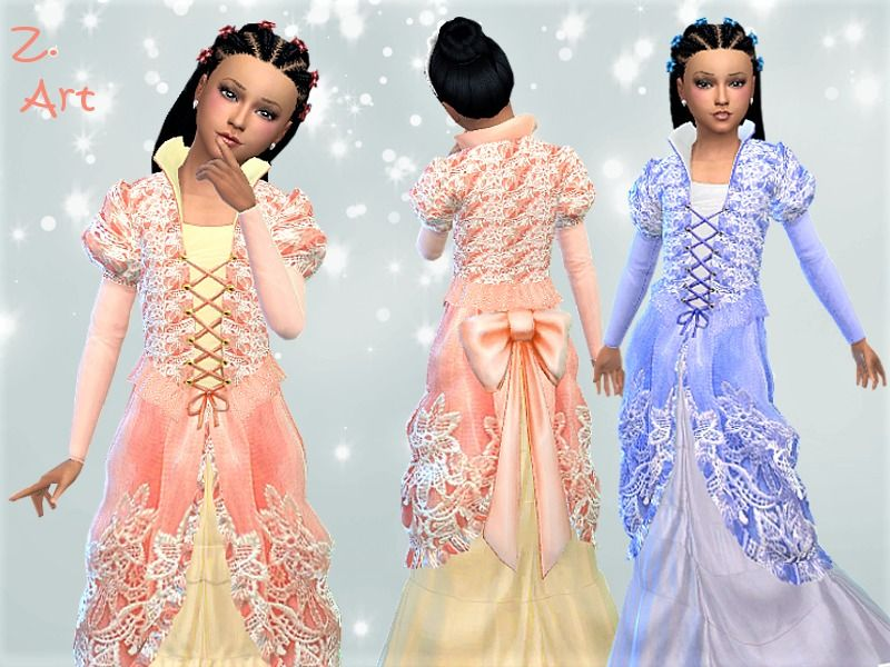 A majestic ball gown for romantic girls :D Found in TSR
