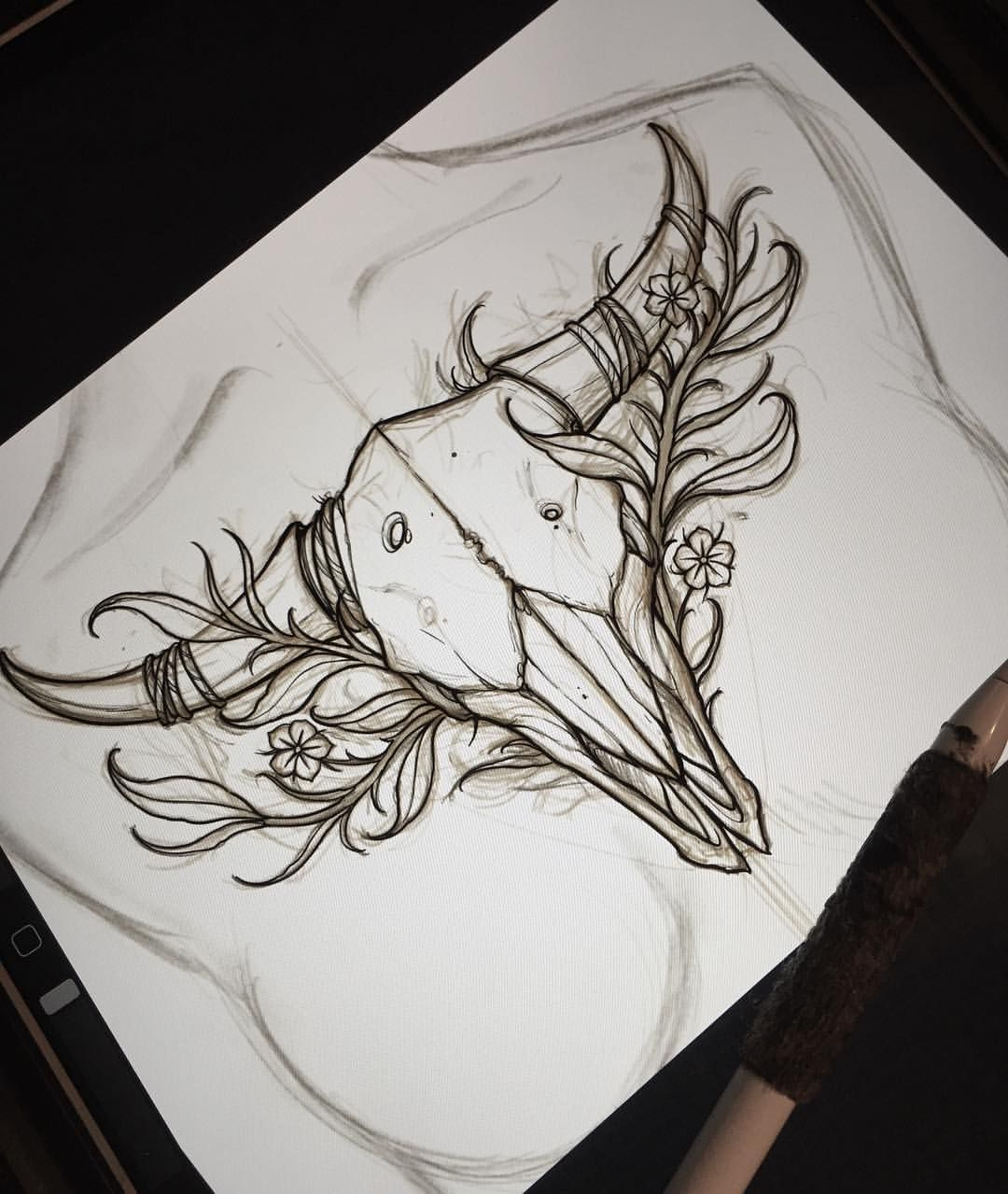 Chest Piece Sketch Ready For This Week @cannibal.lecter