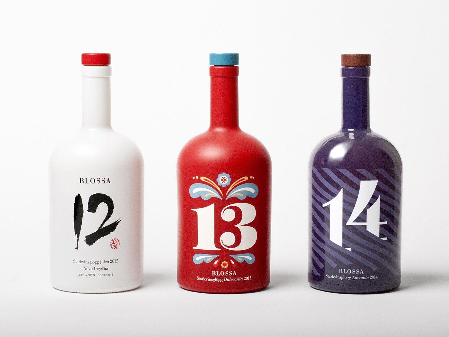 Blossa Annual Scandinavian Design Group Wine Design Food Packaging Design Christmas Wine