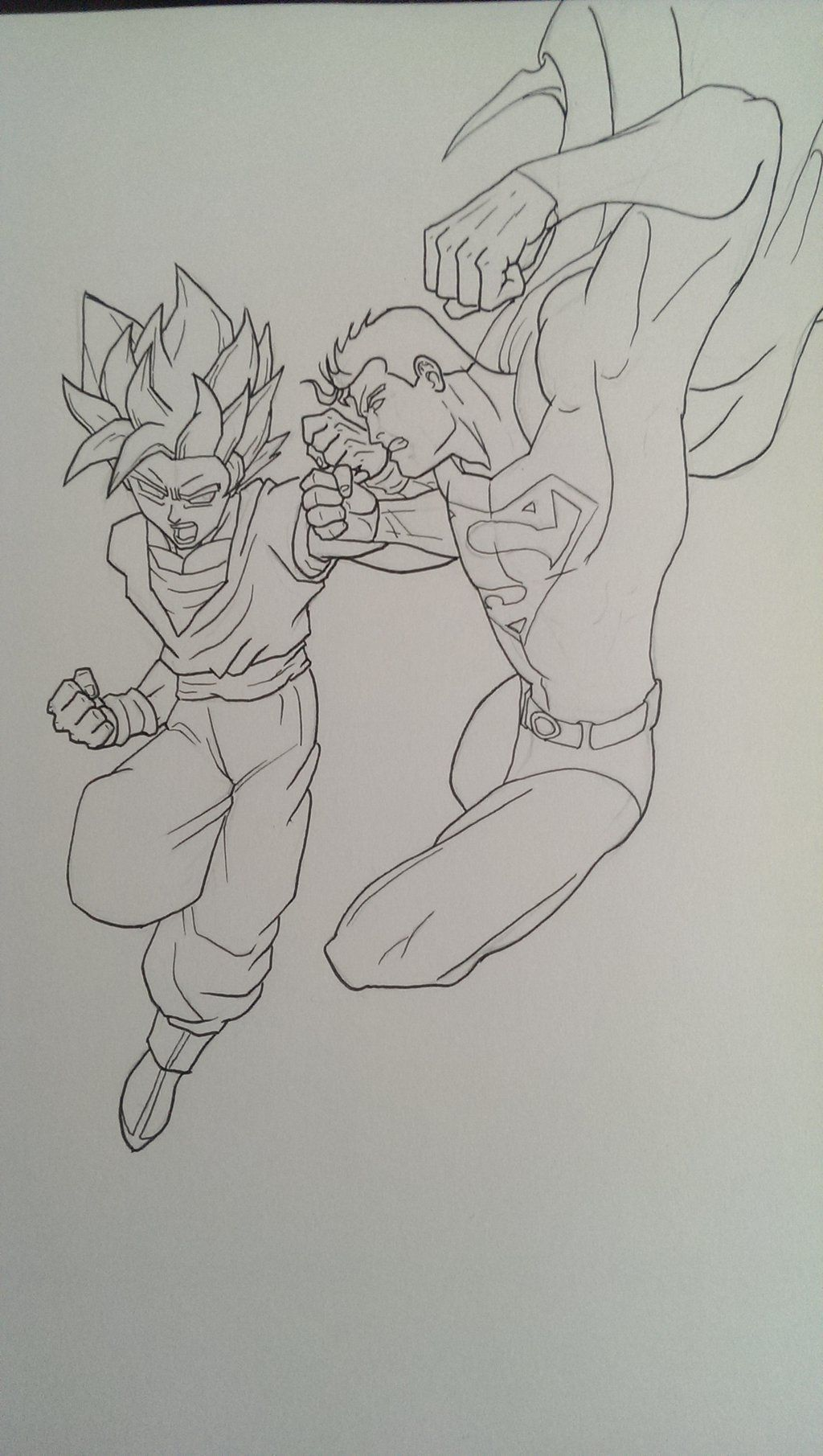 Goku vs Superman by wsjoop1119.deviantart.com on ...