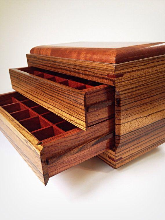 Zebra Wood Jewelry Box Made From 5 Exotic Woods Door Xrayhardwoods