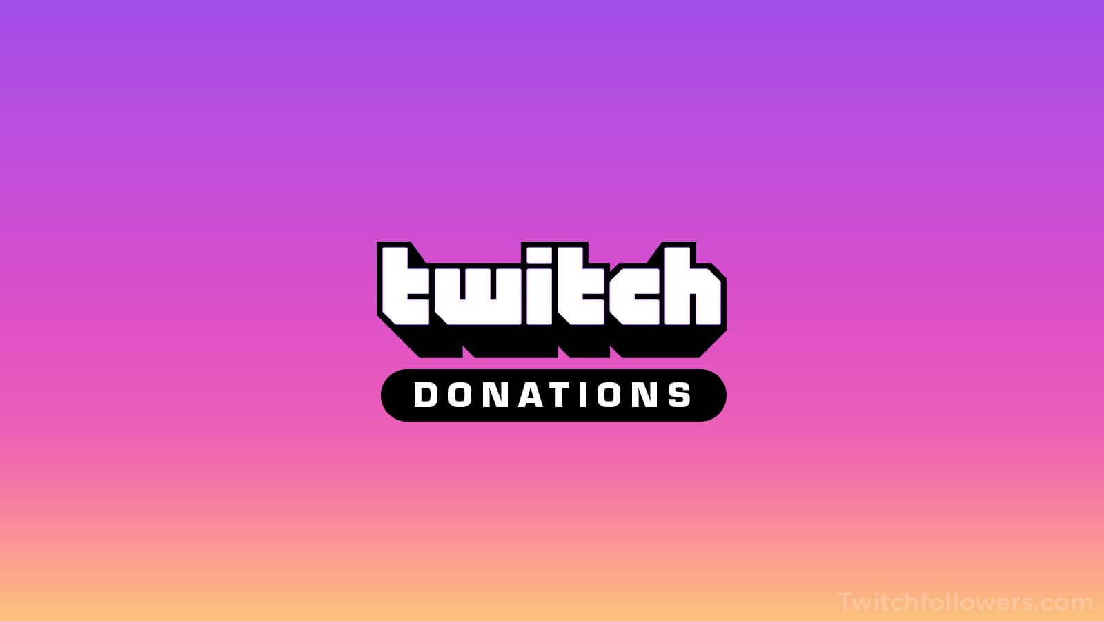 how to donate to someone on twitch app