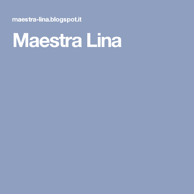 Maestra Lina
