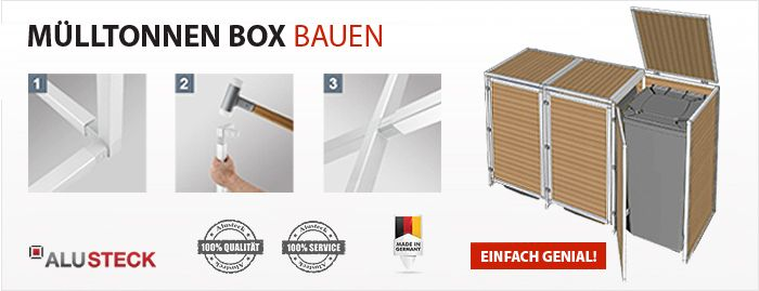 m lltonnen box selber bauen ideen zum selber bauen mit alusteck pinterest m lltonnenbox. Black Bedroom Furniture Sets. Home Design Ideas