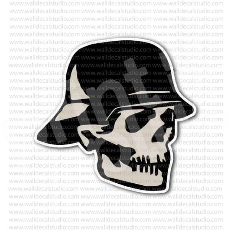 German soldier helmet skull sticker