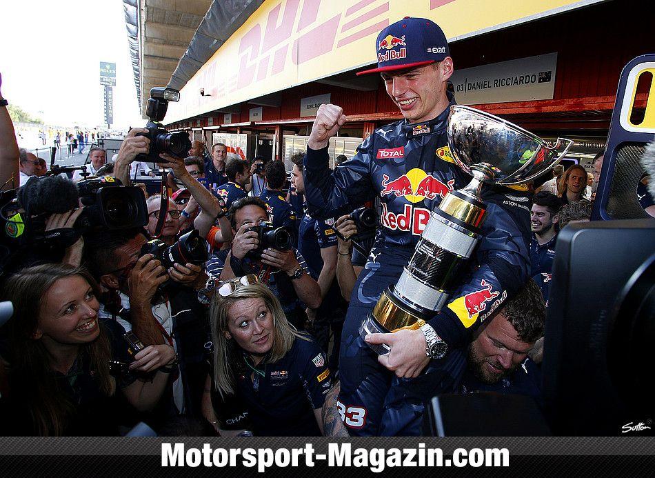 Formel 1 2016, Spanien GP, Barcelona, Max Verstappen, Red Bull, Bild: Sutton