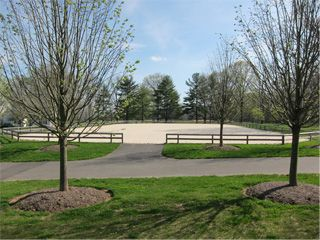 Outdoor 100X200 Arena with Combination Sand and Fiber Footing. Private Farm in Bedminster, New Jersey