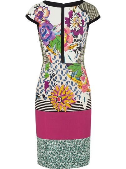 Multicolor Round Neck Short Sleeve Print Dress
