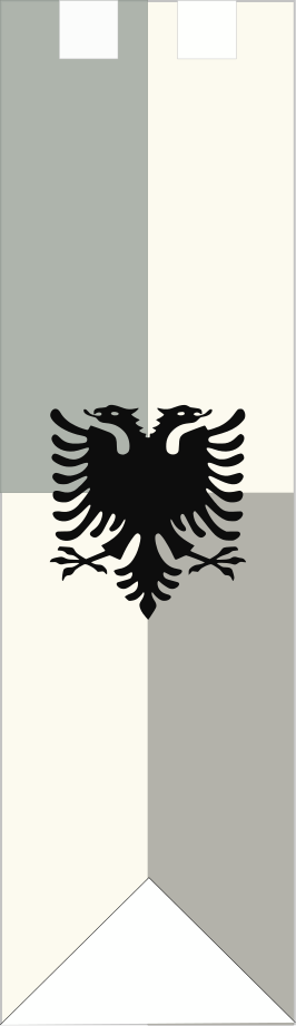 Banner design incorporating double headed eagle (actually from the Albanian flag). Grey/Silver or Deep green background works for this one.