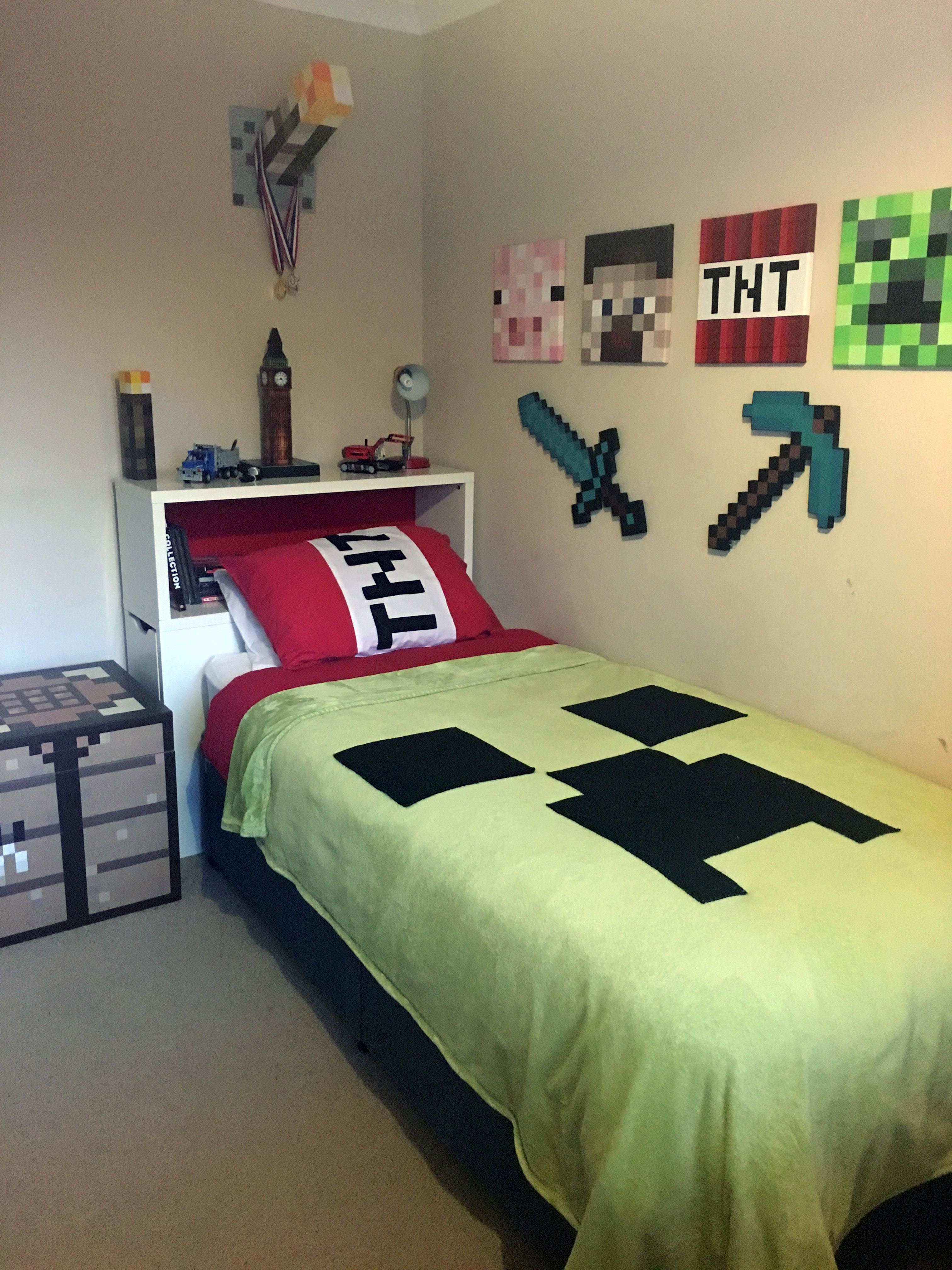 Excellent Kids Bedroom Ideas On A Budget Tips For 2019 Minecraft Bedroom Decor Boys Bedrooms Bedroom Diy