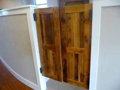 Western Style Swinging Saloon Doors   Reclaimed Wood   Custom Size
