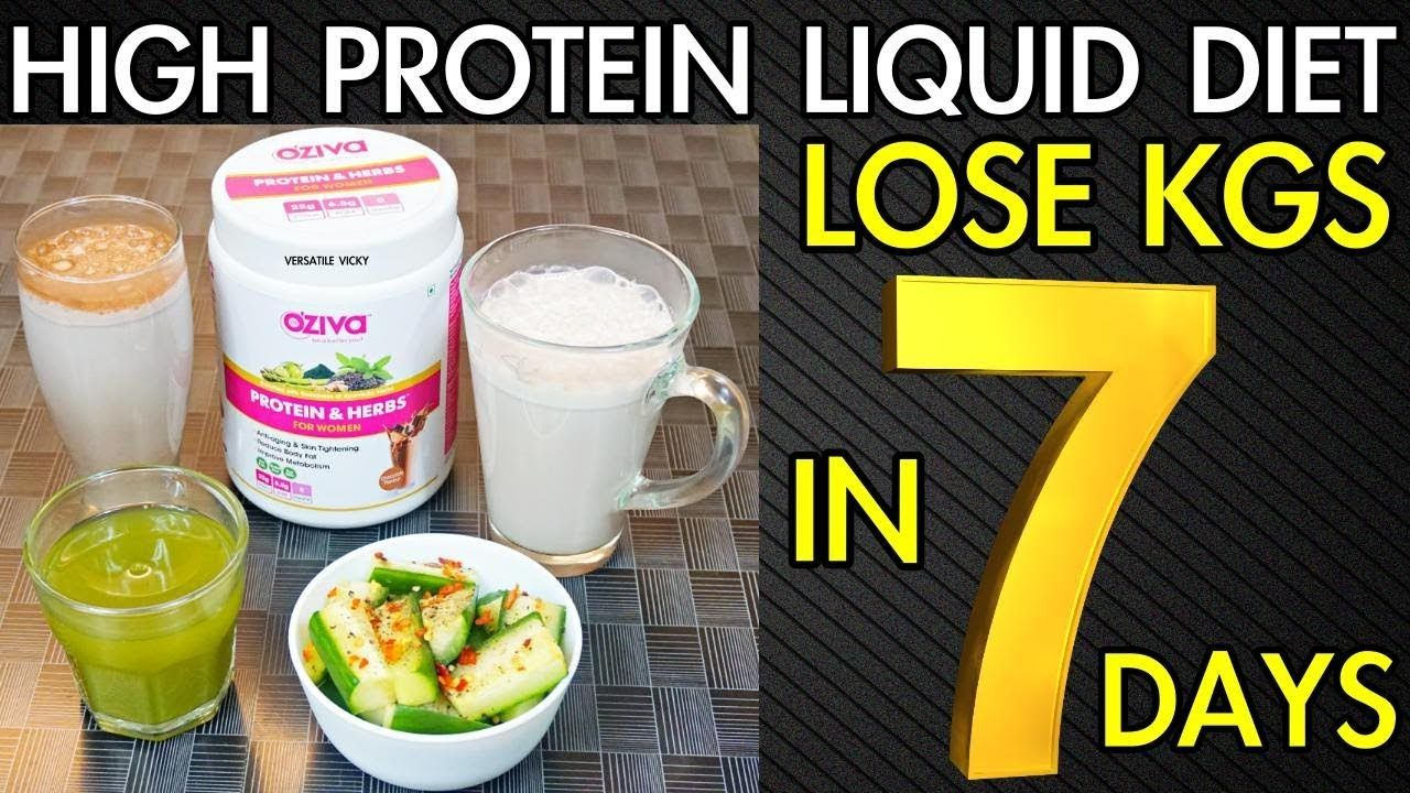 How to do a liquid diet to lose weight