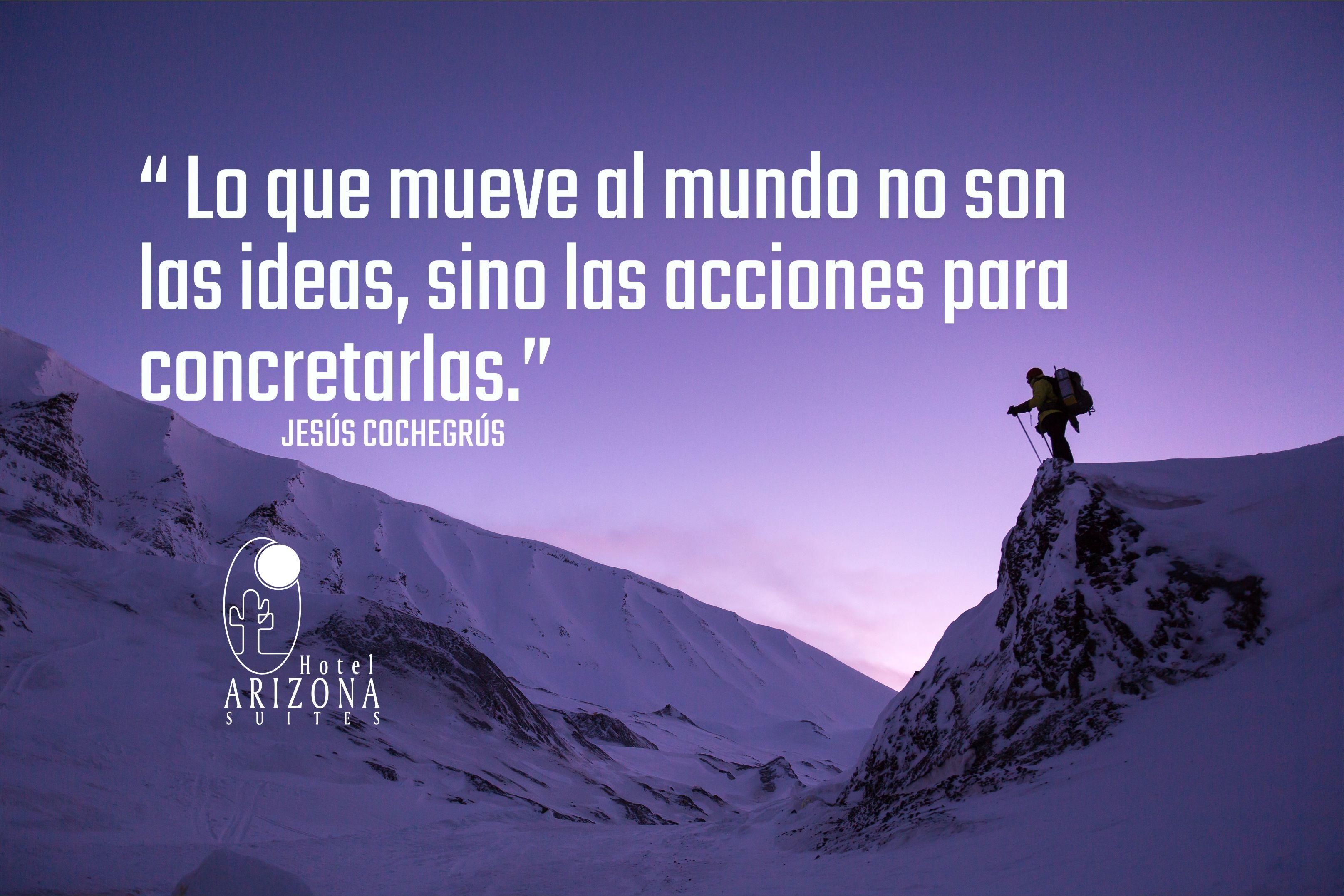 """""""LO QUE MUEVE AL MUNDO NO SON LAS IDEAS, SINO LAS ACCIONES PARA CONCRETARLAS."""" #frasemotivadora #motivacion #cucuta"""