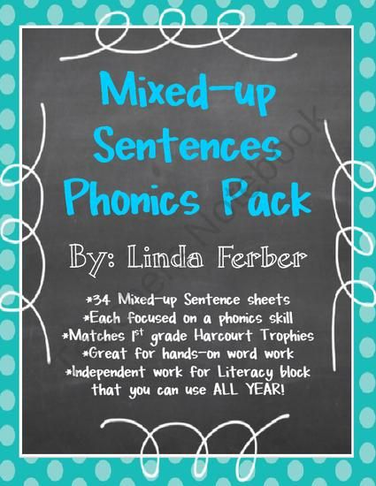 This is a set of 34 worksheets with mixed-up sentences. Students ...