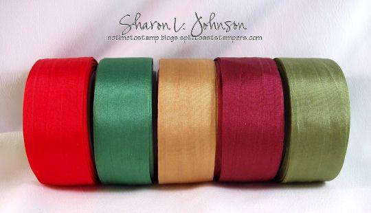 "4 yds May Arts RED Silk Ribbon 1//4/"" wide"