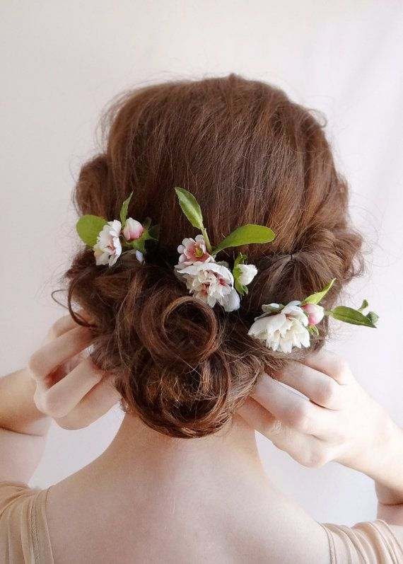 for sale at www thehoneycombshop com wildflower hair pins small peony hair accessories floral hair pins for bridesmaid or parties