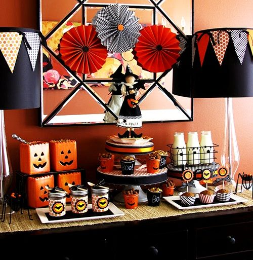 Mesa ideal para una fiesta Halloween Proyectos Pinterest